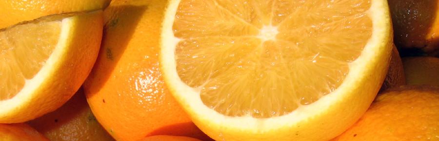 Fette di arancia.