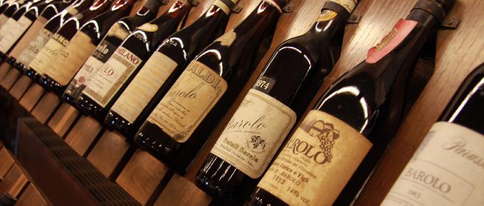 Bottiglie di vino Barolo